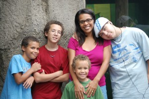 Angie Miles and sons