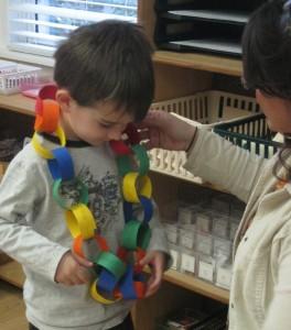 Child with friendship chain.