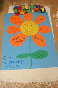 Flower poster to learn about friendship.