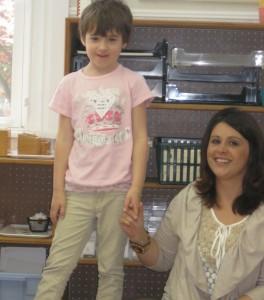 Stephanie Pelly and little girl
