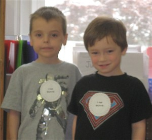 Two brave little boys from the Young Masters Little Wisdom Discovery Program