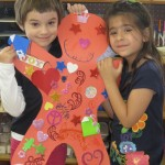 Proud students, showing their creativity. Young Masters Little Wisdom Discovery Program